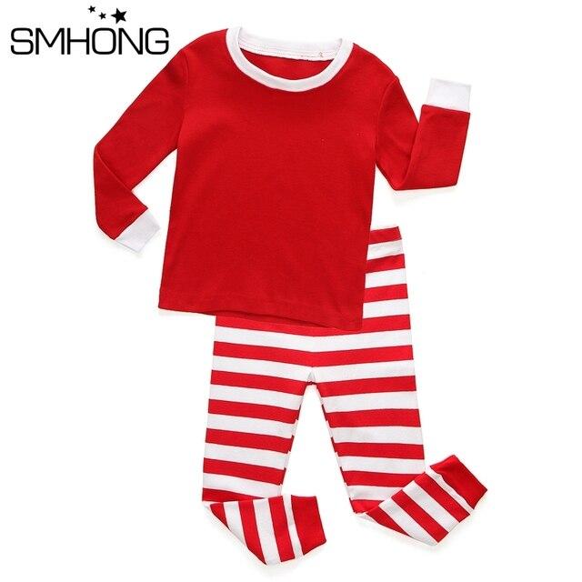 kids christmas pajamas set boys girls long sleeve clothing sets children striped pajamas christmas boy girl - Girl Christmas Pajamas