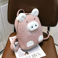Backpack Women Large Capacity Fashion Simple School Girl Wild Personality Cartoon Pig Small K605