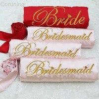 4pcs lot Personalized Silk Kimono Nightwear Robe hen Bacholerette party Bride Bridesmaid gift Wedding Satin Robes