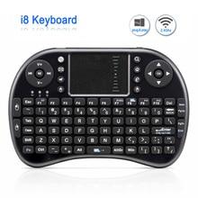 Original i8 Mini Rechargeable Wireless font b Keyboard b font 2 4G English Russian Version Air
