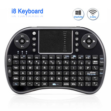 Original i8 Mini Rechargeable Wireless Keyboard 2.4G English Russian Version Air Mouse Touchpad Handheld For Android TV Laptop