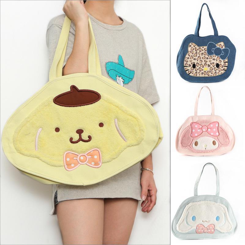 Cute Cartoon Hello Kitty Pudding Dog Melody Rabbit Keroppi Plush Backpack  Big Children s Woman Shoulder Bag Handbag Girls Gifts-in Plush Backpacks  from Toys ... d5adfe4b650ce
