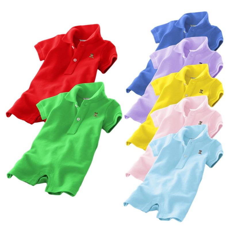2019 zomer baby rompertjes, baby jongens meisjes overall, 100% katoen jumpsuits, 3M- 24M baby's kleding vestido infantil kleding
