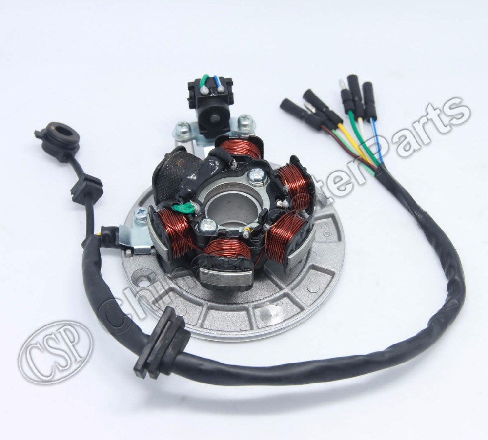 US $35 0 |Magneto Stator 6 Pole Coil 6 Wire Lifan 1P55FMJ 140CC Xmotos Kaya  Apollo 140CC Dirt Pit Bike Parts-in ATV Parts & Accessories from