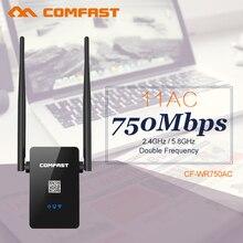 Doble Banda Comfast 750 Mbps Wifi Repetidor 802.11 AC Router 2.4G + 5 GHz Repetidor Inalámbrico Wi fi Roteador Amplificador de señal
