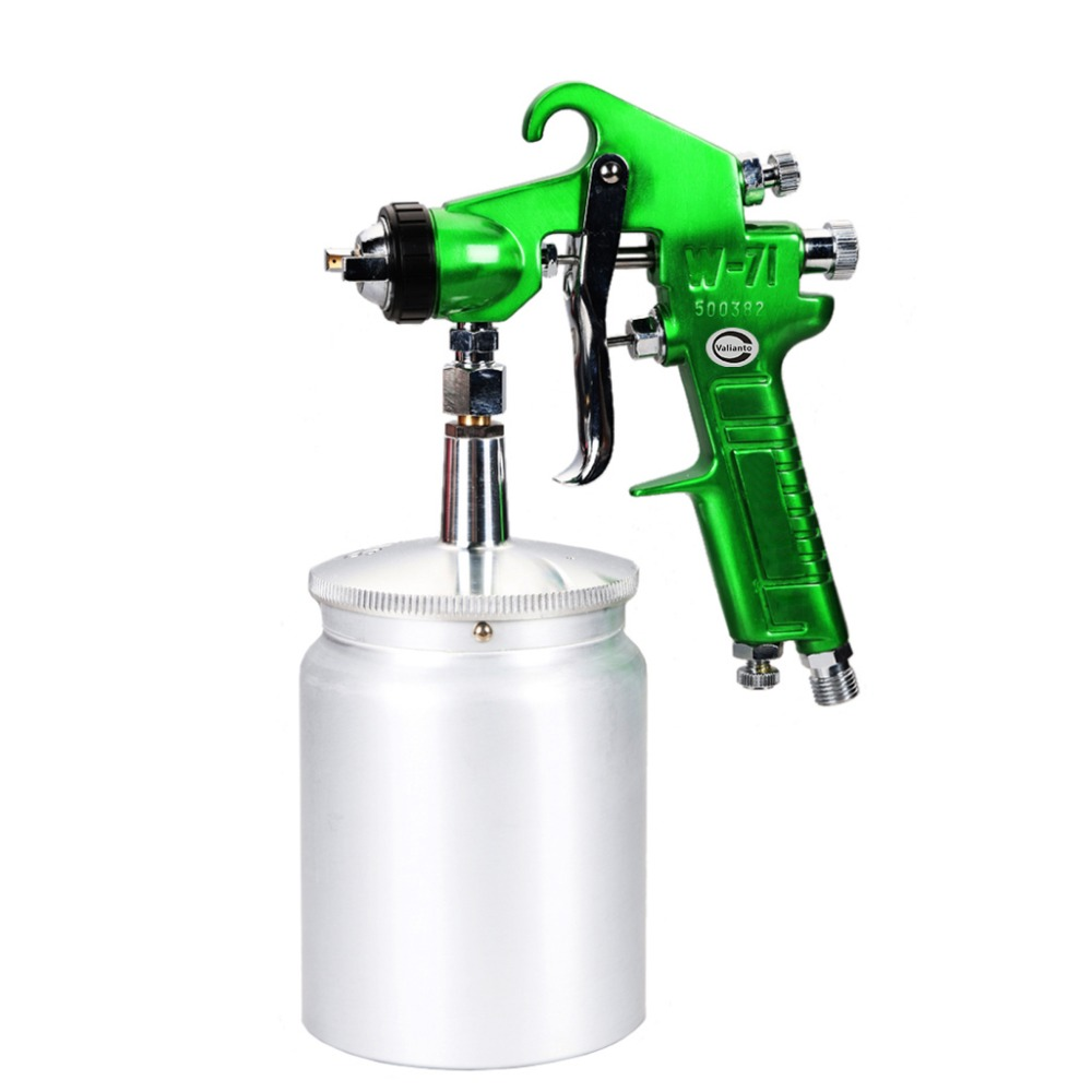 Free Shipping Free Shipping Cheap W71-S Siphon Feed Green Air Spray Gun Pneumatic Paint Tools Airbrush Sprayer Many Nozzle size free shipping w1 air cap anest iwata spray gun air cap w1 pneumatic tools paintint tools w1