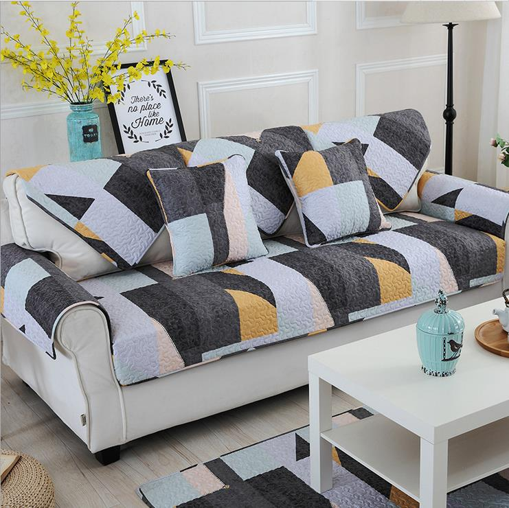 1 Piece Sofa Cover Modern Style Geometric Printing Soft Modern Slip  Resistant Sofa Slipcover Seat Couch Cover For Living Room