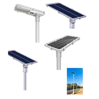 All In One Intelligent Sensor Solar Street Light 20W 30W 60W 80W High Power Solar Led