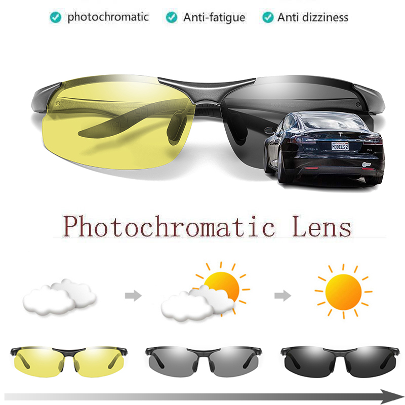 Polarized Photochromatic Sunglasses Outdoor Driving Transition Chameleon Lens