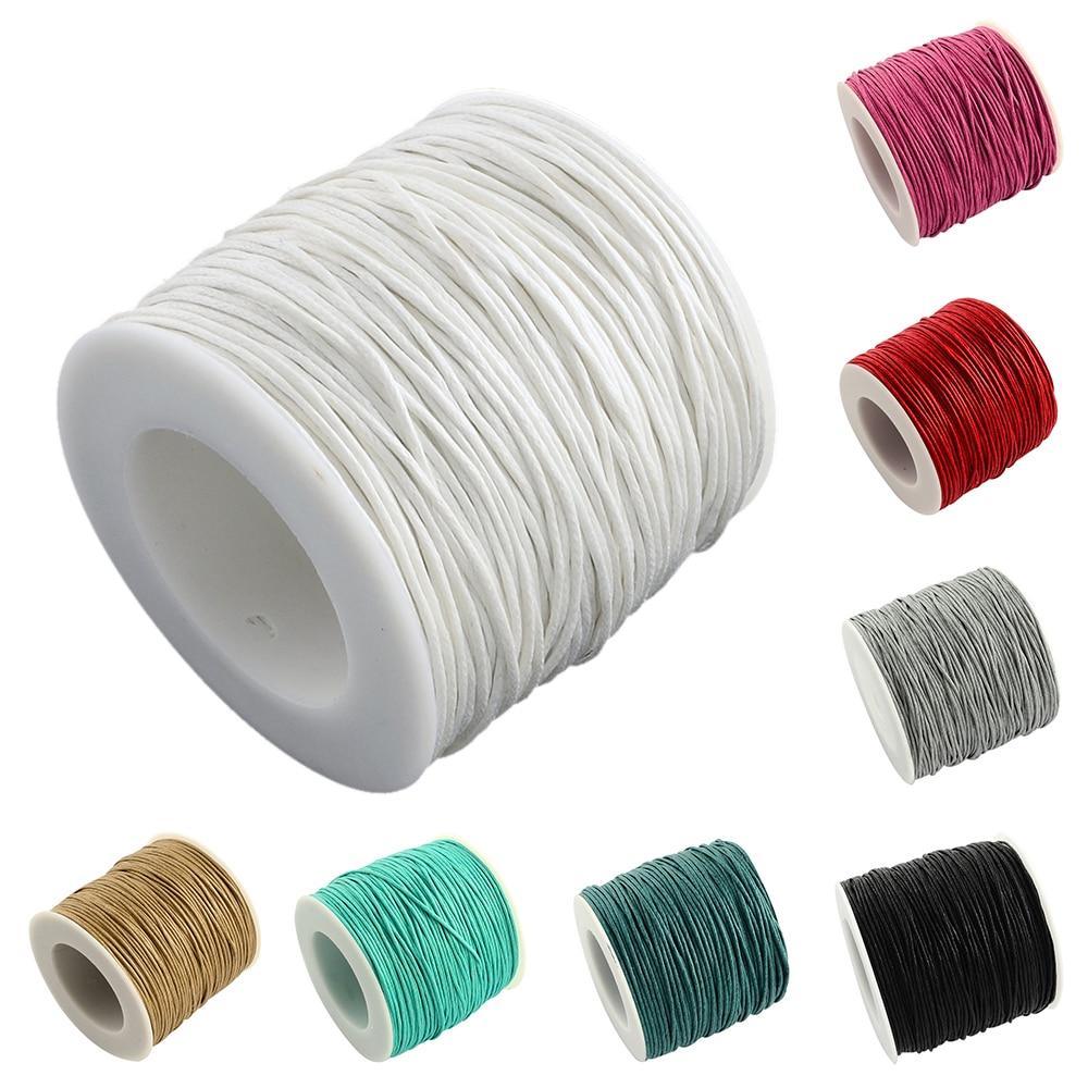 ed93cd731e99 Pandahall 1mm aprox. 74 m rollo de hilo de algodón encerado cordones cordón  cuerda para DIY pulsera collar 8 Color disponible - a.martinac.me