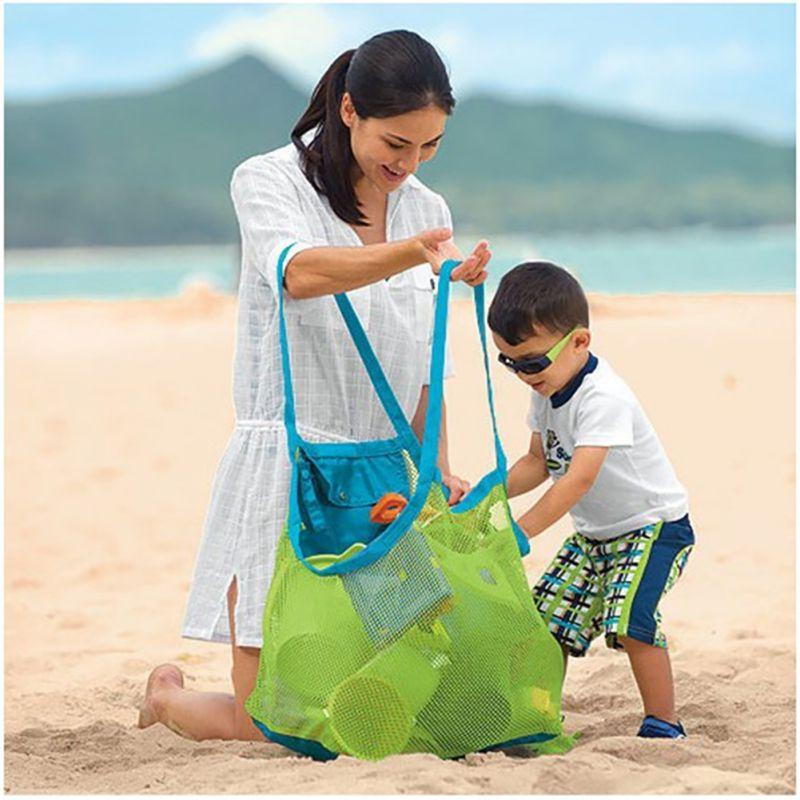 Вешалка на стену сумка детская пляжная сумка Детские игрушки коллекция подгузник пляжная сумка из сетки пляж игрушки Рюкзаки Лидер продаж