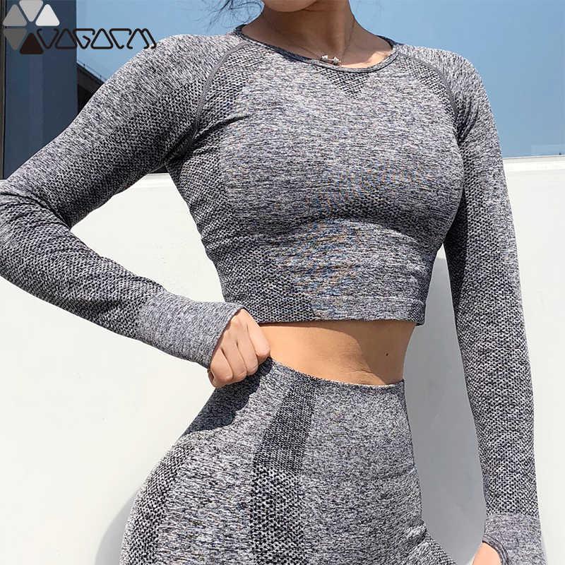 Женские брюки для спортивной йоги, бесшовные, высокая талия, Акула, твердые, Mujer, спортивные фитнес штаны, для бега, Femme, топ для тренировок или леггинсы