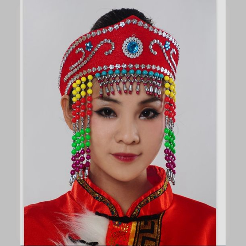Hair Accessory Adult Dance Cap Headdress Mongolian Accessories