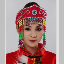 Womens dance clothes accessories performance hair accessory adult cap headdress wholesales