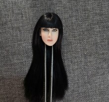 1/6 ANCK SU NAMUN Head Sculpt with Black Long Hair for 12'' Action Figures Bodies