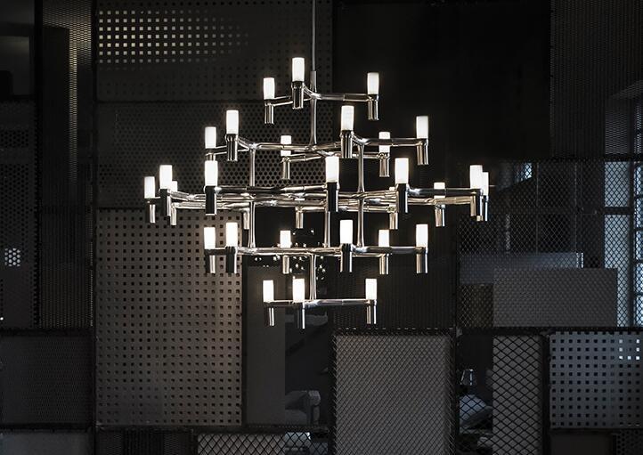 Post Modern Art Chandelier creative simple industrial restaurant lighting fashion luxury villa living room lamp WPL236