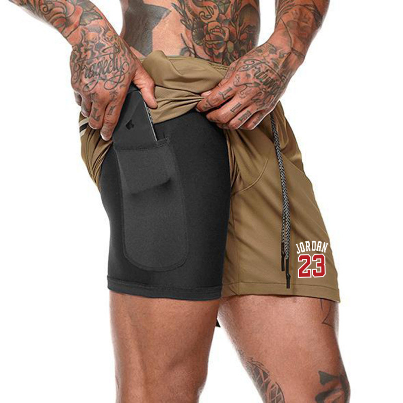 Summer Jordan 23 Men Shorts Fashion Brand Boardshorts Breathable Male Casual Shorts Comfortable Fitness Mens Bodybuilding Shorts