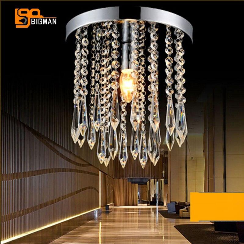 Nºnouveau Plafond En Cristal Moderne Lampes Ronde Plafonniers Lustre
