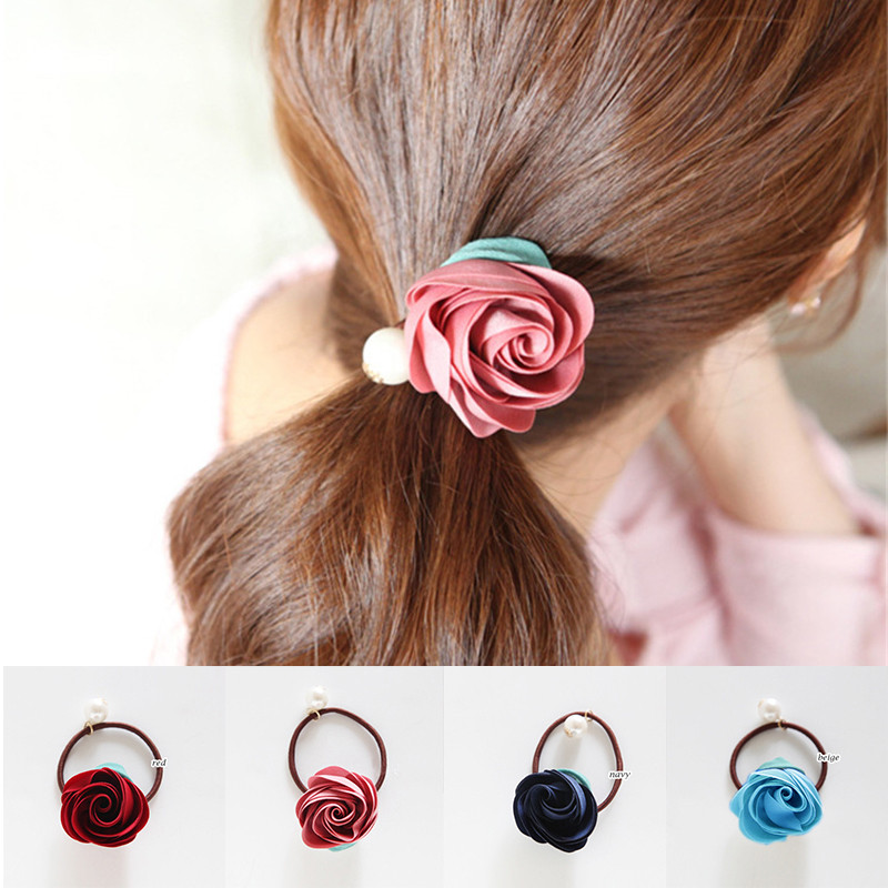 Apparel Accessories Friendly Haimeikang 2pc Women Satin Ribbon Bows Elastic Hair Bands Ponytail Holder Bowknot Hair Rope Girls Hair Accessories Headbands