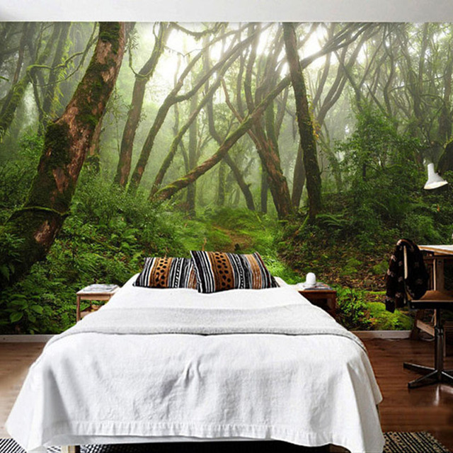 Custom Mural Primary Forest Green Tree Photo Wallpaper Living Room Bedroom Restaurant Modern Creative Wall Painting Fresco
