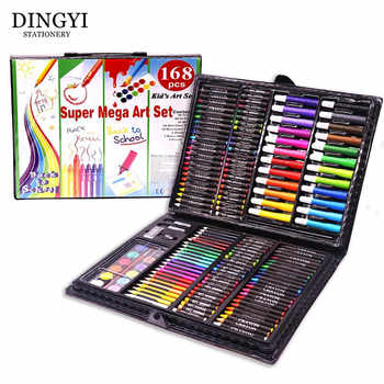 DINGYI 168 PCS Kids Gift Wooden Colored Pencil Wax Crayon and Oil Pastel Painting Brush Children Drawing Tools Set Art Supplies - DISCOUNT ITEM  38% OFF All Category