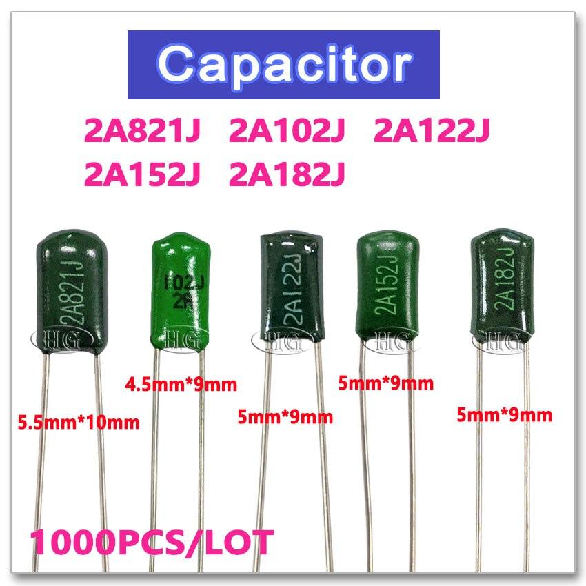 1000pcs Ceramic Disc Capacitor 2000V 2KV 152 1500PF 1.5NF 0.0015uF High Voltage