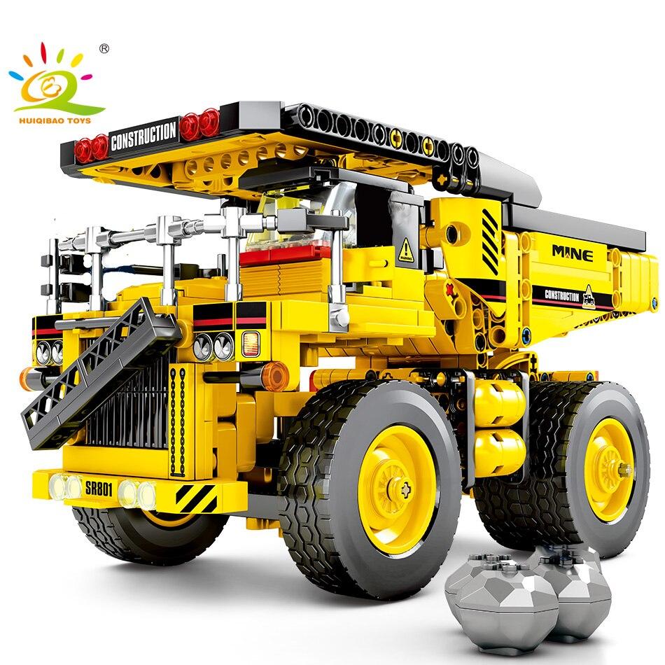 807pcs Dump Truck Building Blocks compatible Technic Tipper Car Engineering City Construction Bricks Toys For Children