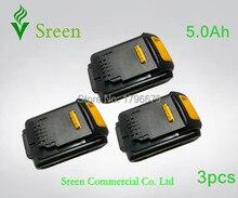 Bateria de Íon Substituição para Dewalt 3 Pcs 5000 Mah LI Recarregável de Ferramenta Poder 18 V Dcb200 Dcb201 Dcb203 Dcb204 Dcb180 Dcb181 Dcb182