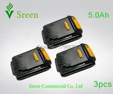 3 pcs 5000 mAh Puissance Outil Rechargeable Li Ion Batterie de Remplacement pour DEWALT 18 V DCB200 DCB201 DCB203 DCB204 DCB180 DCB181 DCB182