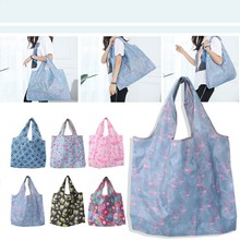 THINKTHENDO Folding Waterproof Oxford Cloth Tote Shopping Travel Shoulder Bag Pouch Handbag(China)