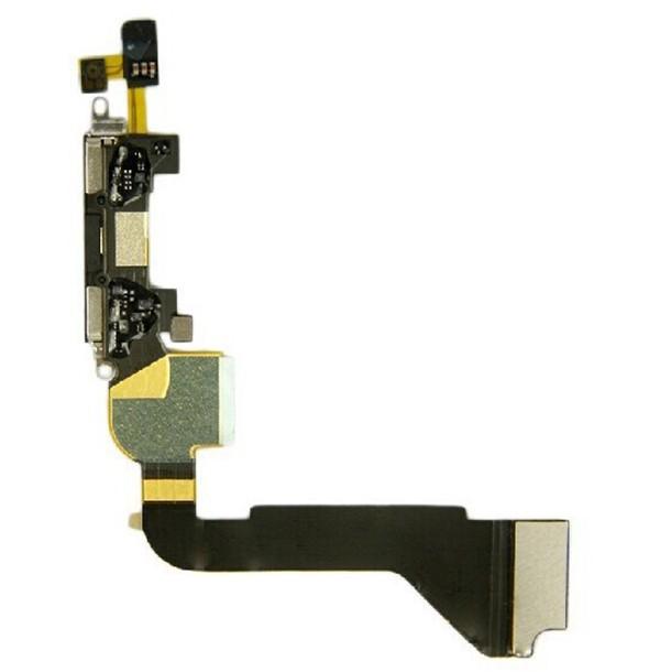 10 шт./лот бесплатная доставка подключения док-станции зарядки порт USB для GI кабель для iPhone 4 с 4G замена черный белый высокое качество