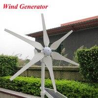 300W Wind Generator, 6 Blades Wind Turbine Generator Three Phase Permanent Magnetism Generator 12V 24V