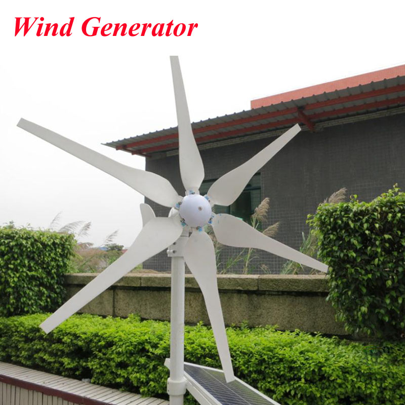 300W Wind  Generator, 6 Blades Wind Turbine Generator Three-Phase Permanent Magnetism Generator 12V 24V saimi skdh145 12 145a 1200v brand new original three phase controlled rectifier bridge module