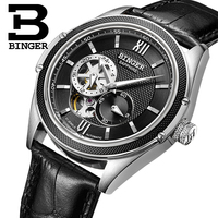Switzerland Binger Watch Men Luxury Brand Miyota Automatic Mechanical Movement Watches Sapphire Waterproof reloj hombre B-1165-6