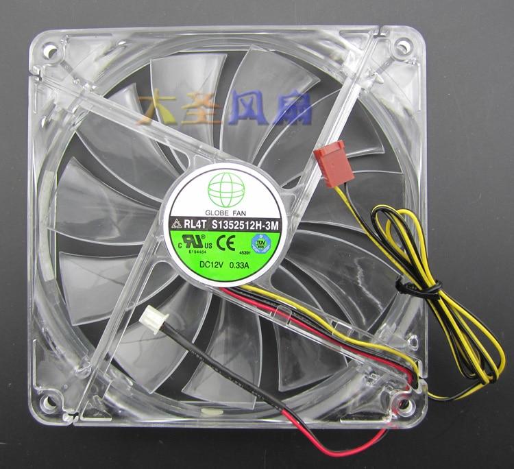 Silent Power Supply Fan 1500 rpm RL4Z S1352512H 12V 0.33A Pitch 120mm 135mm * 135mm * 25mm segotep halo 12 silent casing fan