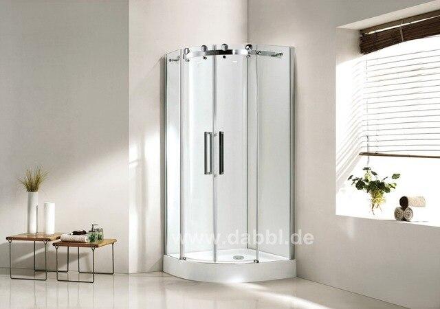 900 x 900 x 1950mm Quadrant Bathroom Shower Enclosure Glass Shower ...
