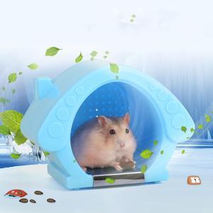 Охлаждающая клетка для хомяка, домик со льдом, летнее охлаждающее гнездо, маленький специальный золотой Мишка, Igloo, случайный цвет