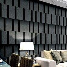 Koyu Duvar Kağıdı Siyah 3D Vinsion Modern Oturma Odaları için duvarlar tv backgroundpapel de parede rulo için para quarto
