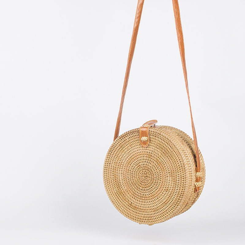 Round Straw Beach Bag S Circle Rattan Small Bohemian Shoulder Summer 2018 Vintage Handmade Crossbody Leather Bagc119 In Bags From