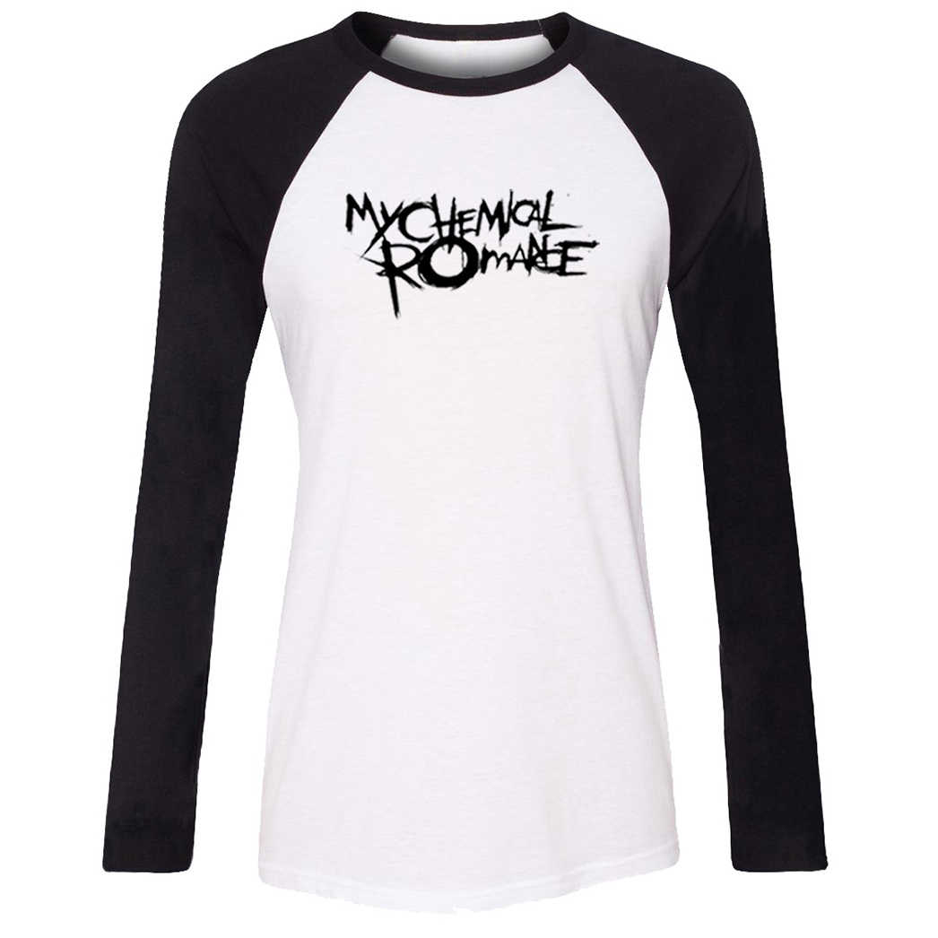 Motorcycle Off Road Raglan Long T Shirt Women MY CHEMICAL ROMANCE Girl's T-shirt ONE OK ROCK Casual Loose Tshirt Ladies Tops