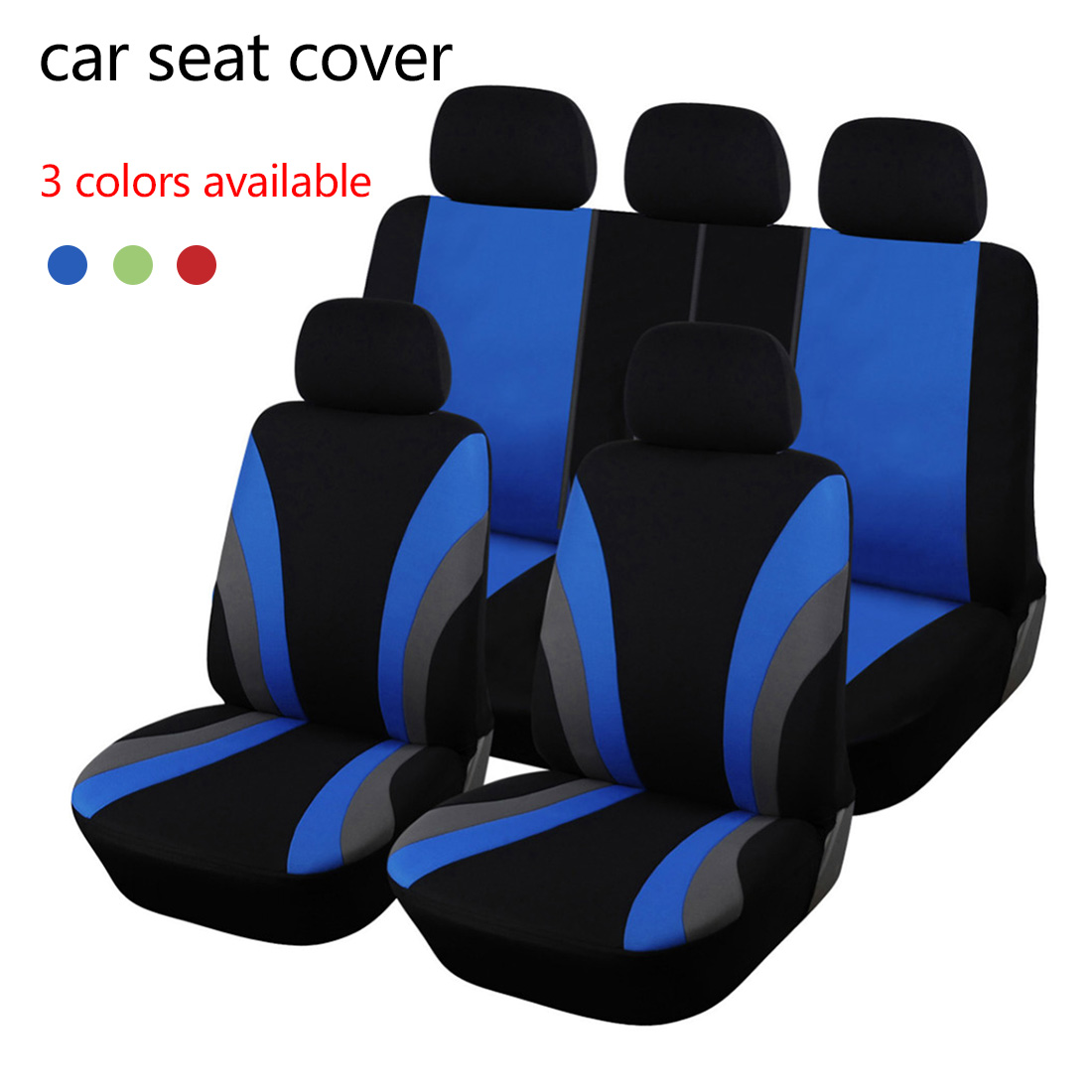 Dewtreetali 9pcs Full Set Universal Car Seat Covers Fit Most SUV Truck Cars Car Seat Protector Car Styling 3 Color Seat Cover