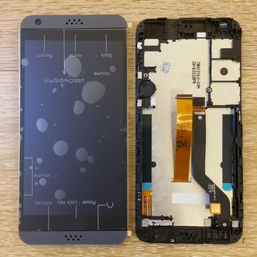 Light grey A single card Dual sim card LCD DIsplay Touch Screen Digitizer Frame For