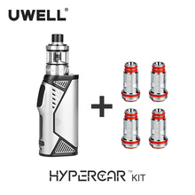 UWELL Hypercar Kit & 4Pcs/Pack Whirl Tank Coil Set 5-80W  18650 Battery Or USB Charging 2018 New Arrival E-cigarette Vape