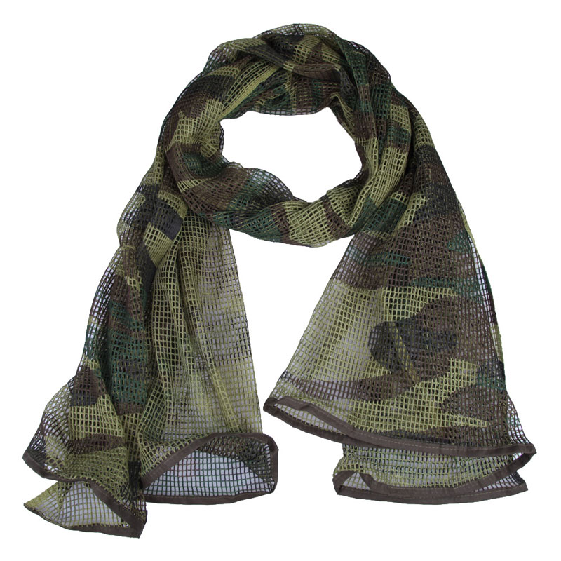Winter Military Tactical Camouflage Scarf Mesh Breathable Headband Mesh Scarf Outdoor Camping Hiking Men Scarves Neck Wrap fashionable black fringed winter scarf for men