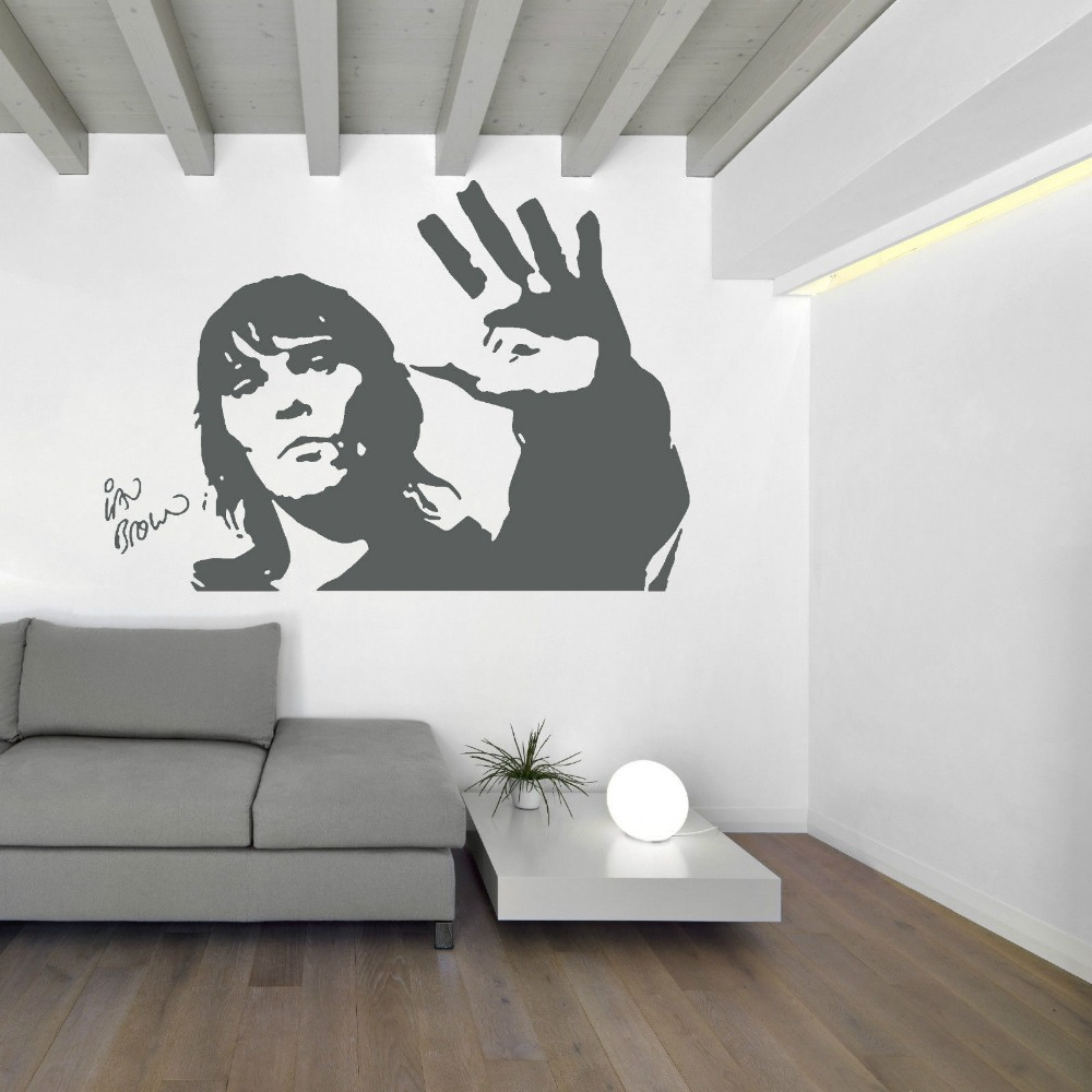 IAN BROWN STONE ROSES Wall art Sticker Mural vinyl decal music ...