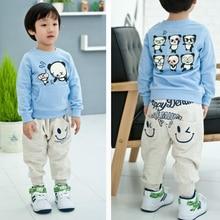Retail 2016 New spring autumn cotton kids pants Boys Girls Casual Pants 2 Colors Kids Sports trousers Harem pants Hot
