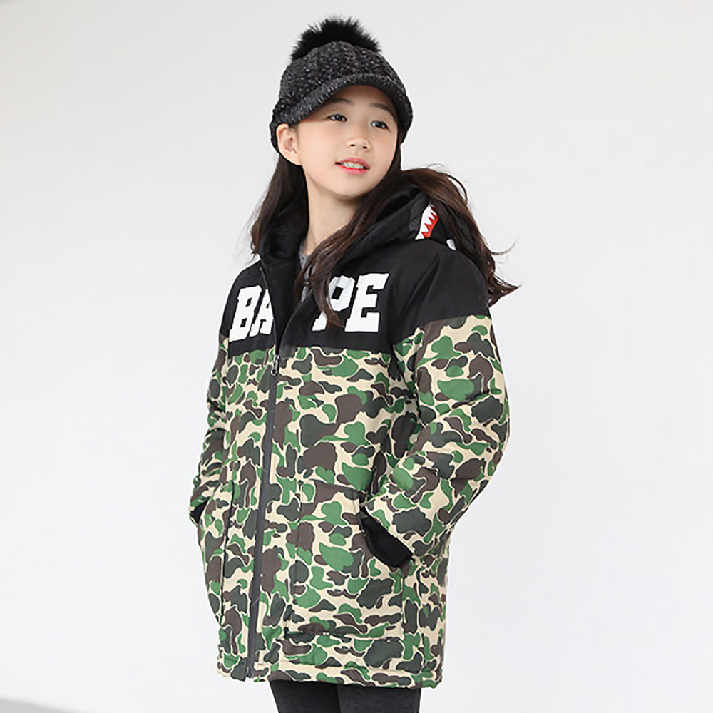 B-B17021 Boys Girls Kids Autumn Solid Color Cotton Jackets Long Sleeve Winter Jacket Coat Keep Warm Outerwear 7-14Years Outwear tnlnzhyn winter new women clothing warm cotton coat fashion large size thicken long sleeve casual female cotton outerwear qq260