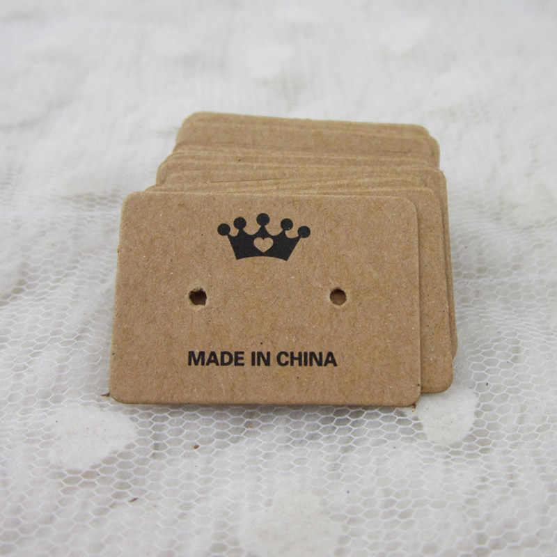 Pendientes tarjetas colgantes amor joyería embalaje exhibidor collar horquillas pendientes tarjetas marcado etiqueta colgante papel Kraft 10 piezas