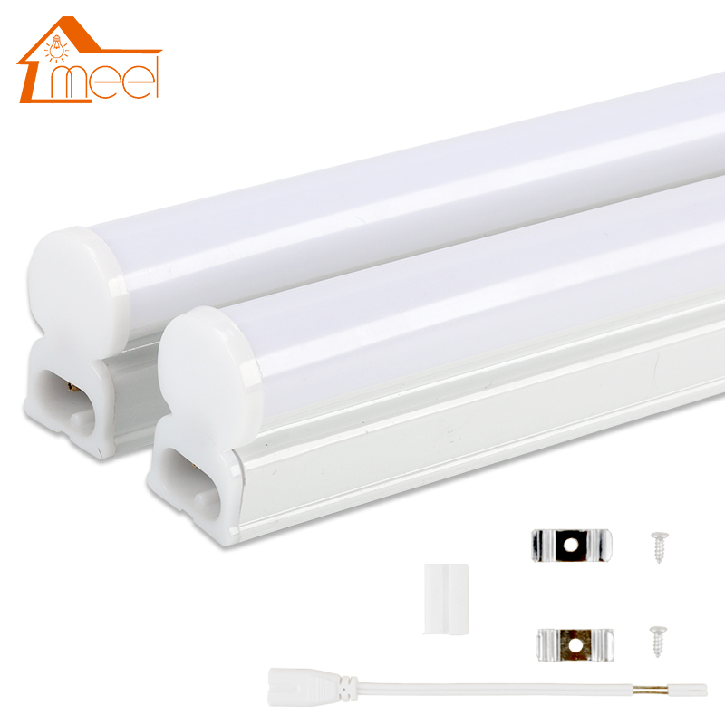 LED Tube T5 Lamp 220V 230V 240V PVC Plastic Fluorescent Light Tube 30cm 60cm 6W 10W LED Wall Lamp Warm Cold White energy savingt8 60cm led 10w fluorescent 40w equivalent tube replacement fluorescent lamp fixture no ballast no uv