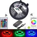 5050 rgb waterproof led strip fita de tiras mini IOS Android 24 key remote wifi controller diode tape 12v 5a led adapter EU/US